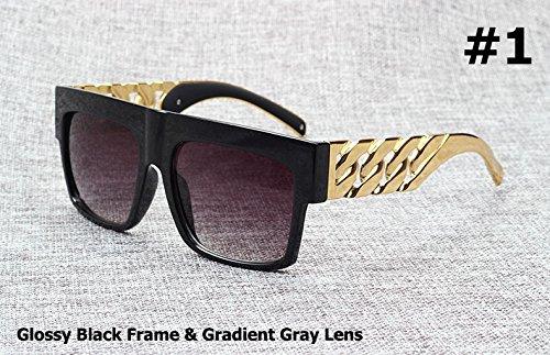 3 Kardashian dorado 1 Kim cadena en estilo famosa sol famosa Gafas Aprigy Beyonce Fashion metal con de inspirado de vintage la xanqFHRvwT