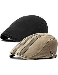 2 Pack Men s Cotton Flat Cap Ivy Gatsby Newsboy Hat 12e67bea2b5e