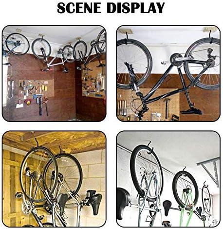 Teekit 8pcs Heavy Duty Multipurpose Utility Storage Bike Hook Space Maximizer Wall Mount Bicycle Hang