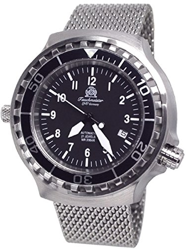 Tauchmeister Automatic, 200m Dive Watch with Mesh Bracelet and Sapphire Crystal T0251MIL