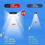 Solar Lights Outdoor, VOOE 228 LED Motion Sensor Solar Security Lights 2200 mAh Solar Wall Lights Wireless 270…