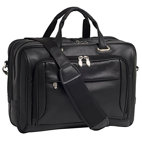 McKleinUSA West Loop I Series 44575 Expandable Double Compartment Briefcase. LEATHER LAPTOP CASE BUILT-IN LAPTOP COMPARTMENT NB-CAS. Briefcase - Shoulder Strap, Hand Strap15.4' Screen Support - 12' x 16.5' x 8.5' - Leather - Black -