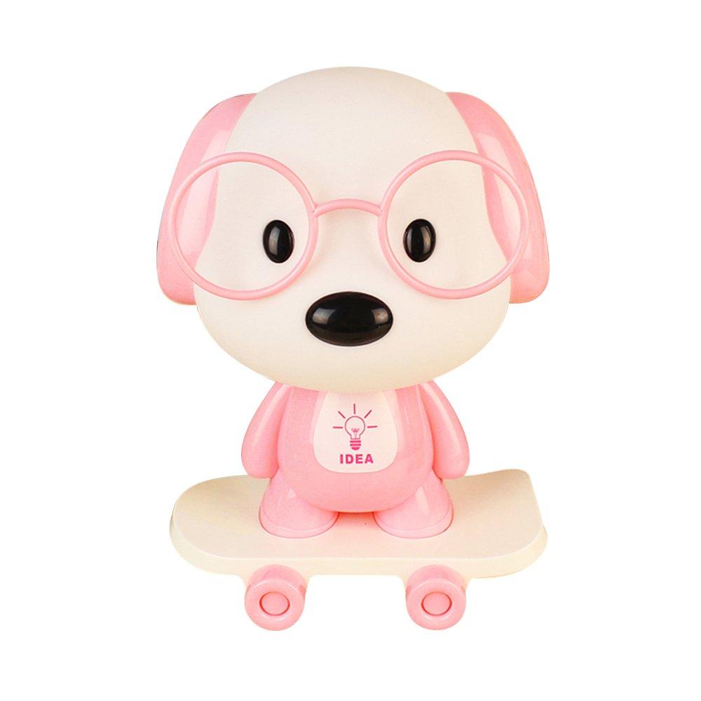 Rest Night Light For Baby Kids Toddler, Cute Cartoon Skateboarding Dog Animals Nightlight Table Desk Lamp, Soft Warm Sleeping Light For Nursery Bedroom Decor by Colors of Rainbow (Image #4)