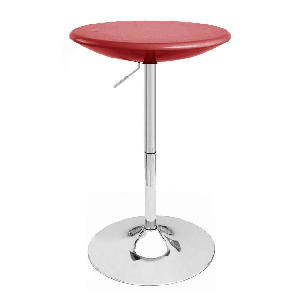 Modern Home Alpha Contemporary Adjustable Bar Table, Set of 2, Cabernet Red by Modernhome