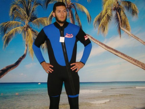 Farmer John Scuba Gear Wetsuits (New 2 Piece 7 Mm Farmer John Style Wetsuit, Size Medium, Surf, Dive, Sucba, Gold Dredge #6900)