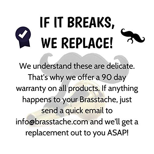 Brasstache - Clip-on Mustache for Brass Mouthpieces, Gift for Trumpet, Trombone, Tuba, French Horn, Baritone, Euphonium Players (Trombone (Large)) 71SjGyb2QGL