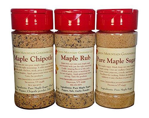 Vermont Maple Sampler (Maple Rub, Maple Chipotle, Maple Sugar) - Maple Sugar Pepper