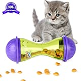Airsspu Interactive Food Dispensing Bone Shaped Cat Toy - Dogs & Cats Increases IQ and Mental Stimulation Pets Treat-dispensing Ball - Squeaky Ball Cat Toy (Cat toys)