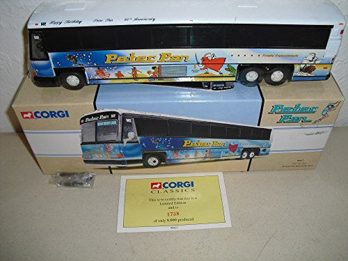 - Corgi PETER PAN Trailways Bus MCI-102 DL3 BOSTON in 1:50 Scale Limited Edition Die-Cast Metal #98422