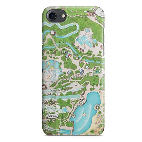 Queen of Cases Hard Shell Phone Case - Blizzard Beach - Disney Map Blizzard Beach