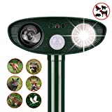 instecho Dog Repellent, Outdoor Solar Powered and Weatherproof Ultrasonic Dog/Cat/Mosquito Repeller