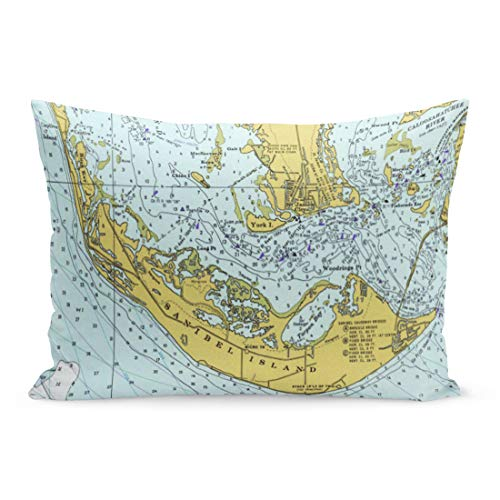- Aikul Throw Pillow Covers Captiva Sanibel Island Florida Vintage Nautical Chart Antique Estero Pillow Case Cushion Cover Lumbar Pillowcase Decoration for Couch Sofa Bed Car,20 x 26 inchs
