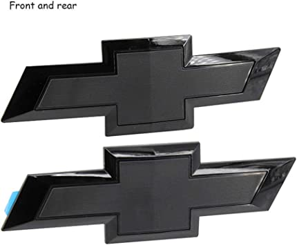 Cardiytools Black Front /& Tailgate Bowtie Emblem for 2016-2019 GM Chevy Silverado 1500