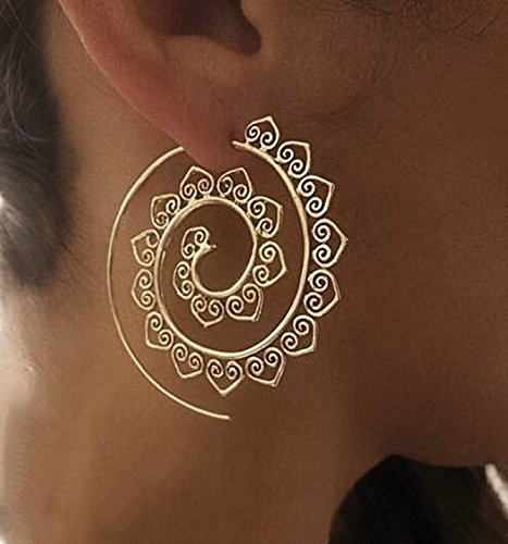 Swirl Hoop Earrings Bohemia Jewelry (Gypsy Jewelry)