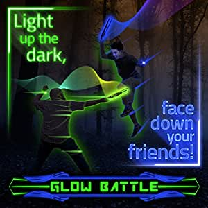 Glow Battle: Light Up Outdoor Sword Game for Groups – Glow-in-the-Dark, Active Fun for Kids, Teens and Adults