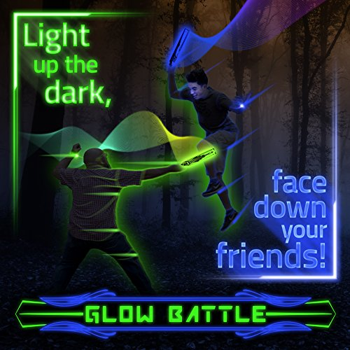 Glow Battle: Light Up Outdoor Sword Game for Groups – Glow-in-the-Dark, Active Fun for Kids, Teens and Adults by Starlux Games
