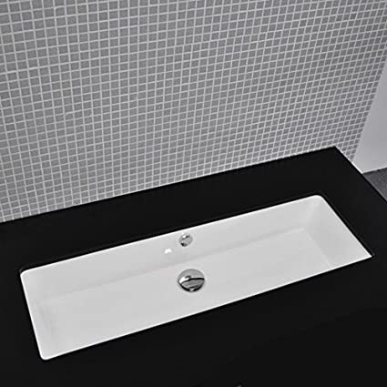 Etonnant Lacava Under Counter Porcelain Lavatory With An Overflow, Unglazed  Exterior, 35 1/