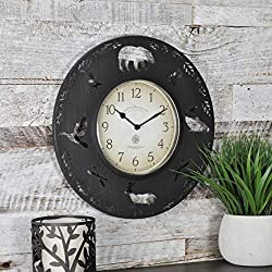 FirsTime & Co. FirsTime Lodge Collection Wall Clock, 13, Aged Brown