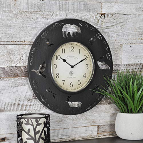 (FirsTime 10034 Lodge Collection Wall Clock Aged Brown)
