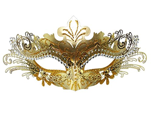 Masquerade Mask Fancy Dress Costume Party Face Masks Metal Rhinestones (Face Masks Fancy Dress)
