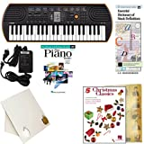 Homeschool Music - Learn to Play the Piano Pack (Christmas Classics Book Bundle) - Includes Casio SA76 Keyboard w/Adapter, learn 2 Play DVD/Book, Books & All Inclusive Learning Essentials
