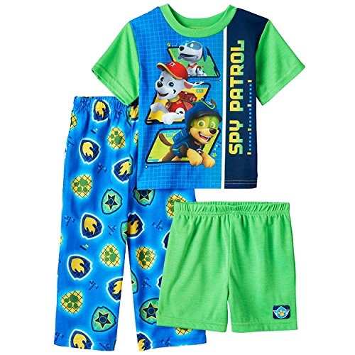 Paw Patrol Boys 3 Piece Shorts Pajamas Set (Toddler) by Nickelodeon