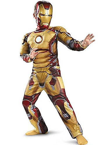[Iron Man Mark 42 Muscle Light-Up Costume - Large] (Iron Man Mark 42 Costume For Sale)