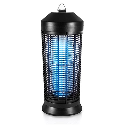 Mosquito Repellent Lamp (SereneLife Upgraded Electric Bug Zapper - 2018 Fly & Mosquito Killer, Insect Flying Bug Trap Weather Resistant Electronic Lamp Plug-in with UV Light for Home, Indoor and Outdoor Use - PSLBZ42)