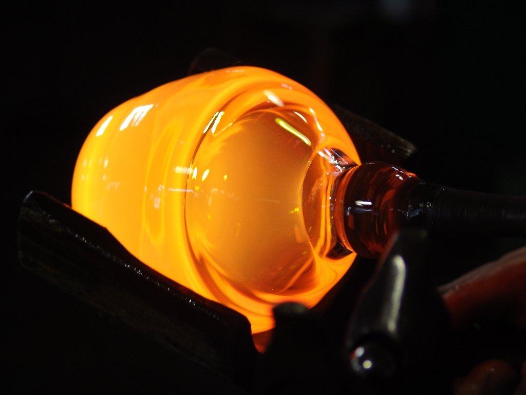 ART GLASS powered by CRISTALICA /Ø 9 cm trasparente Collezione Morning vetro soffiato Tazze in vetro H=8 cm lavorate a mano