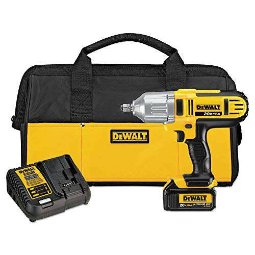 DEWALT 20-Volt Max Lithium-Ion 1/2 in. Cordless Impact Wrench Kit