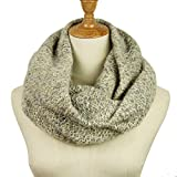 Knitted Infinity Scarf Winter Thick Warm Wrap Women Scarf Fashion Circle Loop Scarves (Grey Blue)