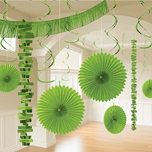 Party Kiwi Deluxe Kit - Kiwi Lime Green Deluxe Room Decorating Kit (18pc)