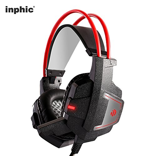 Wired Computer Gaming Headset for Xbox One Controller/PS4/Nintendo Switch, Noise Cancelling Over Ear Headphones with Mic and LED,3.5mm AUX, Bass Surround, for HP/DELL/Mac PC & Laptop by inphic (Image #7)