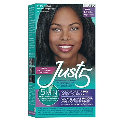 Just 5 Women's 5 Minute Permanent Hair Color, Jet Black (Best Natural Hair Color For Black Hair)