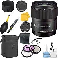 Sigma 340306 35mm F1.4 DG HSM CT Lens Bundle for Nikon (Black)