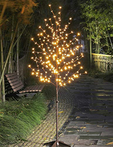 Lightshare LED Blossom Tree, 6.5 Feet, Warm White (Tree Black Christmas Down Upside)