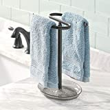 mDesign Decorative Metal Fingertip Towel Holder