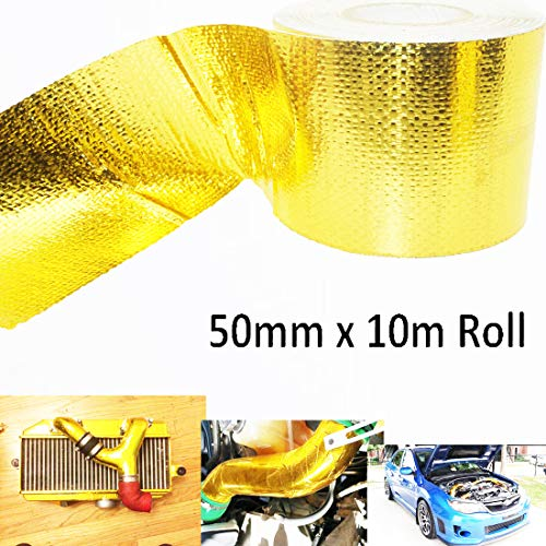 Gold High-Temperature Heat Reflective Adhesive Backed Sheet, Heat Wrap Tape High Temp Shield Reflective for firewalls, bulkheads, Engine Covers, Floors, seat Bottoms & More 2