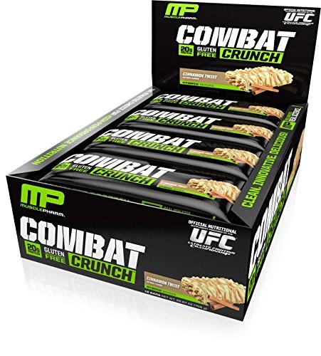 MusclePharm Combat Crunch Protein Bar, Cinnamon Twist, 12 (Cinnamon Bar)