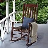 Mainstays Contoured Wood Porch Rocker (Brown)