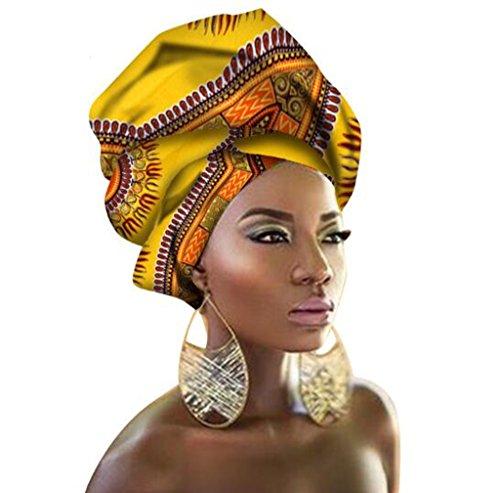 - African Traditional Wax Print Head wrap Headwrap Scarf Tie, Multi-Color Urban Ladies Hair Accessory Headband Head Scarf (TJ43)