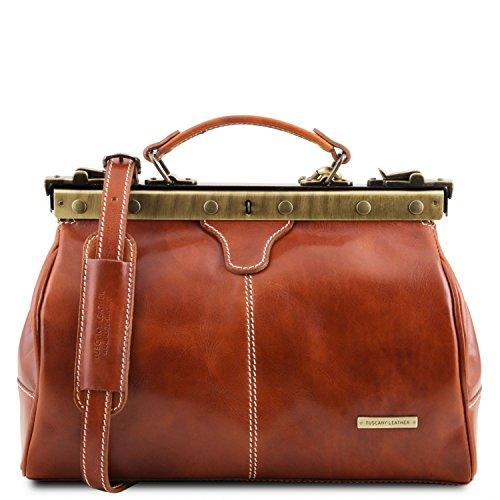 Tuscany Leather - Michelangelo - Bolso de doctor en piel Rojo - TL10038/4 Miel