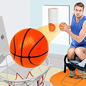 Mini Toiletten Basketball Set für Klo & WC - Basketballkorb & Bälle fürs...