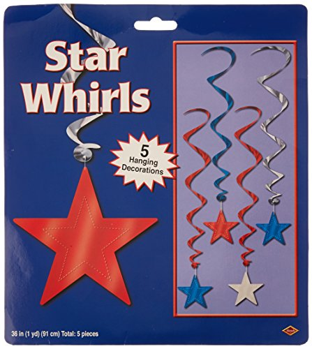 Beistle 57352 RSB 5 Pack Whirls 3 Feet
