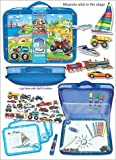 Pecoware Magnetic Transportation Travel Art Lap Desk Boys Gift