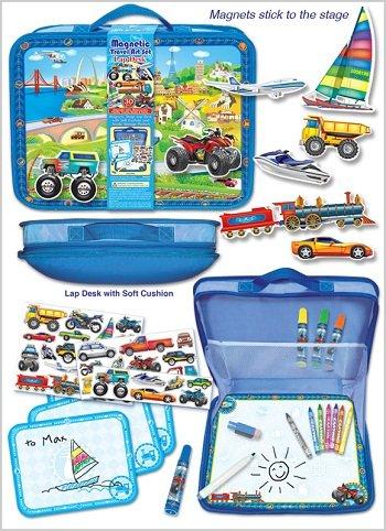 Pecoware Magnetic Transportation Travel Art Lap Desk Boys Gift by Pecoware