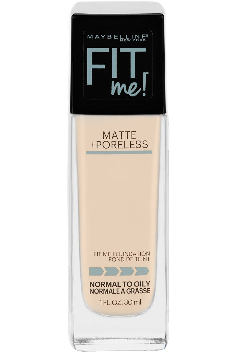 Maybelline Fit Me Matte + Poreless Liquid Foundation, Porcelain, 1 fl. oz.