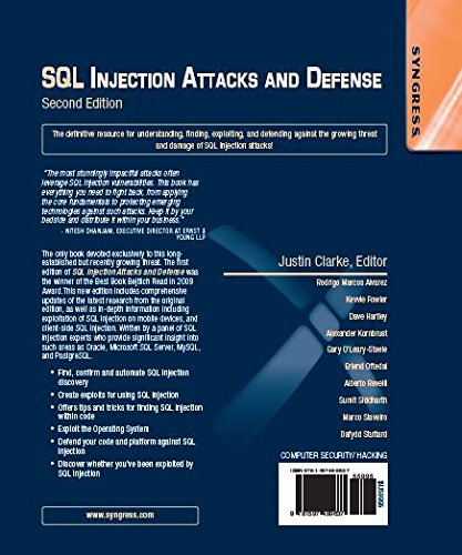 SQL Injection Attacks and Defense, Second Edition by imusti