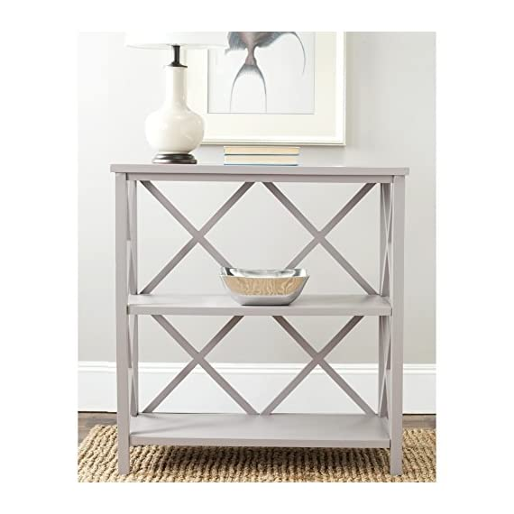 Safavieh American Homes Collection Liam Open Bookcase, Grey -  - living-room-furniture, living-room, bookcases-bookshelves - 51o4kNYCMzL. SS570  -