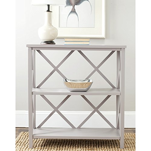 (Safavieh American Homes Collection Liam Quartz Grey 2-Tier Open Bookcase)